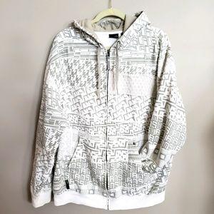 Vans mens XL allover logo full zip hoodie jacket